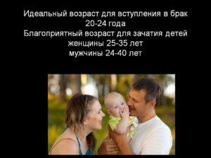 Наилучший возраст для вступления в брак