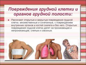 Повреждения грудной клетки