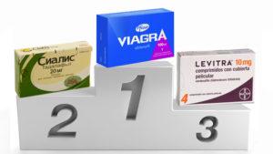 Сиалис, Виагра и Левитра в лечении импотенции