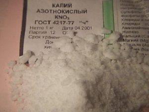Kali nitricum - nitrum (Калий азотнокислый (селитра калиевая)