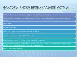 Факторы риска астмы
