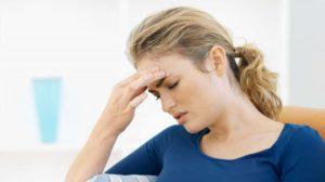 Симптомы болезни - боли в области лба