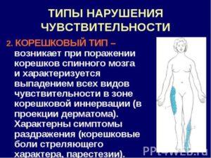 Симптомы болезни - нарушения кожной чувствительности