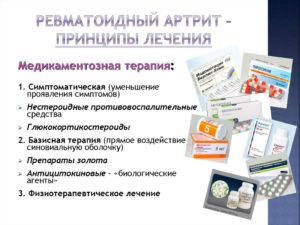 Медикаментозное лечение ревматоидного артрита