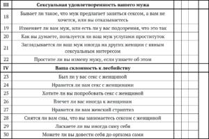 Опросник сексуальной удовлетворенности (по Л. Берг-Кросс, с изменениями и дополнениями)