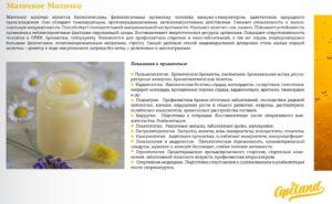 Способы применения и лечебные формы маточного молочка