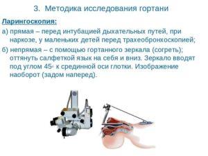 Методика исследования  гортани