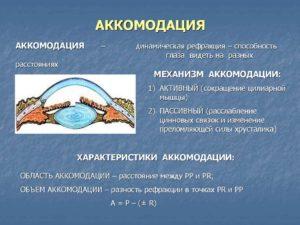 Аккомодация и клинические методы ее исследования