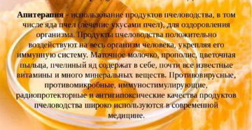 Апитерапия (лечение продуктами пчеловодства)