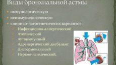 Виды астмы