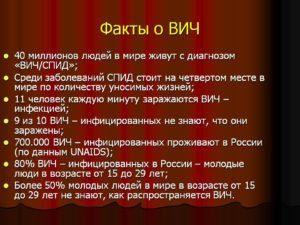 Факты о ВИЧ / СПИДе