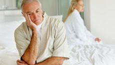 Импотенция распространена среди пожилых мужчин