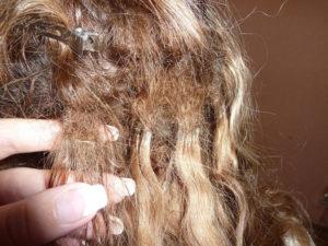 колтун в волосах