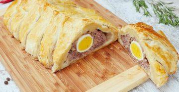 Пирог с мясом и яйцами